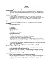 Integrating Technology in the Content Area Literacy Instruction