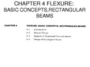 CHAPTER 4-FLEXURE, BASIC CONCEPTS