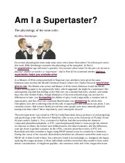 Am I a Supertaster.docx