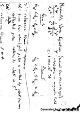 Maxwell's Wave Equation Notes
