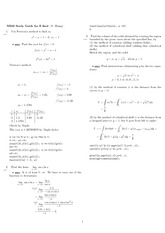 Exam 4 Study Guide Solution Spring 2008 on Analytic Geometry and Calculus B