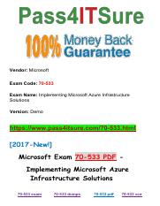 New Pass4itsure Microsoft 70-533 PDF Exam.pdf