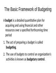 The Basic Framework of Budgeting.pptx