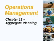 Ch 13 Aggregate Planning