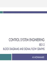 block diagrams and signal flow graphs