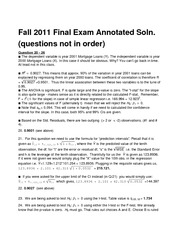 Final Exam Solution Fall 2011 on Business Statistics II