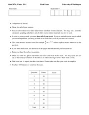 Math 307 Final Exam 2013 Winter