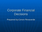 Corporate financial decision.ppt