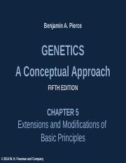 Chapter 5 - Modifications of Mendelian Genetics.ppt