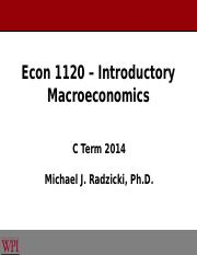 10 - Econ 1120 - The Taylor Rule & the IS-No LM Model