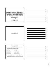 Examples 1&2- Structural Pavement Design