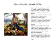 E 316K - Morte Darthur