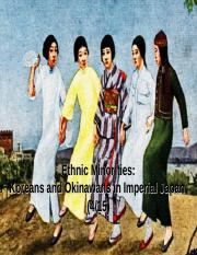 Ethnic Minorities - Koreans and Okinawans in Imperial Japan (online).ppt