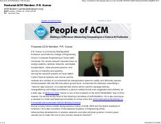 Featured ACM Member PR Kumar.pdf