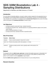 SDS 328M Biostatistics Lab 4 - Sampling Distributions.pdf