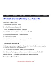 MVSC Accounting - Revenue Recognition (According to ASPE & IFRS)