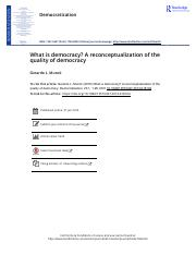 What is democracy A reconceptualization of the quality of democracy- Gerardo L. Munck.pdf