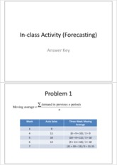 Answer-In-class Activity (Forecasting)