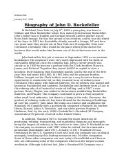 Biography of John D. Rockefeller.docx