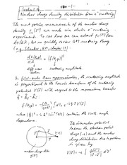 Physics 340a_Class Notes on Nuclear Densities and Binding Energies