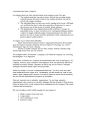 Understanding Organizations lecture notes 7