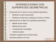 INTERSECCION CON SUPERFICIES