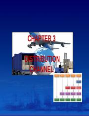 Chapter 3 Distribution Channel