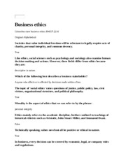 Business ethic1