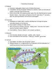 The Columbian Exchange - Interactive Map Activity .docx ...