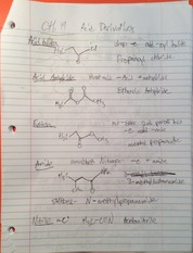 CHM 112 Acid Derivative Notes