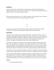 sample formal Lab Report for CHEM 1211L