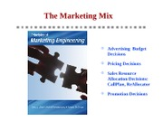 Principles - Ch7 - The Marketing Mix