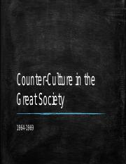 Counter-Culture in the Great Society