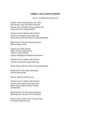 Lirik Lagu Hanya Rindu Docx Lirik Lagu Hanya Rindu Oleh Andmesh Kamaleng Saat Ku Sendiri Kulihat Photo Dan Video Bersamamu Yang Tlah Lama Kusimpan Course Hero