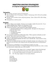 Multiple Choice Strategies  Notes