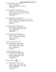Bond Energy Worksheet Answers.pdf - Bond Energy Worksheet Answers 1 ...