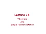 Lect_16_Simple_Harmonic_Motion