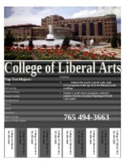 College of Liberal Arts Flyer Jake Lynch