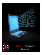 CHFI v4 Module 05 First Responder Procedures