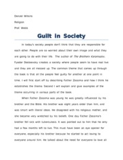 Rel-guilt in society