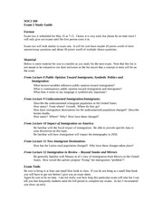 SOC 160_Exam2 Study Guide_Universal Design_2010
