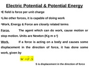 Electric Potential & Potential Energy