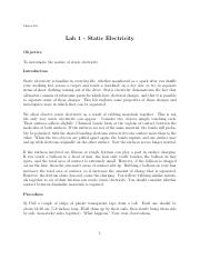 Lab1-StaticElectricity