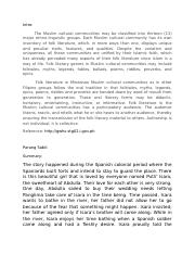 Introduction to Muslim Folktale and Parang Sabil summary.docx