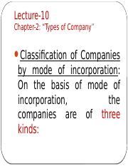 PP11_Lecture-10_Chapter-2_Types of Company
