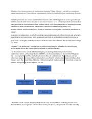 What are the characteristics of marketing channels.docx