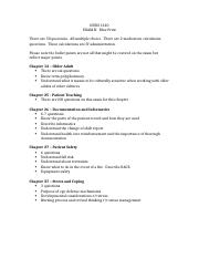 NURS 1320 Exam 2 Blue Print.docx