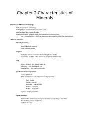 Chapter 2 Characteristics of Minerals.docx
