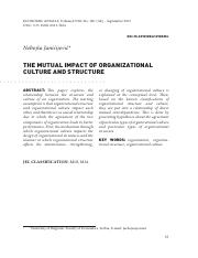 THE MUTUAL IMPACT OF ORGANIZATIONAL 24 apr 16