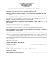 student congress resolution template - club template student government association senate bill